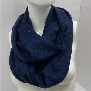 Navy blue scarf with beads